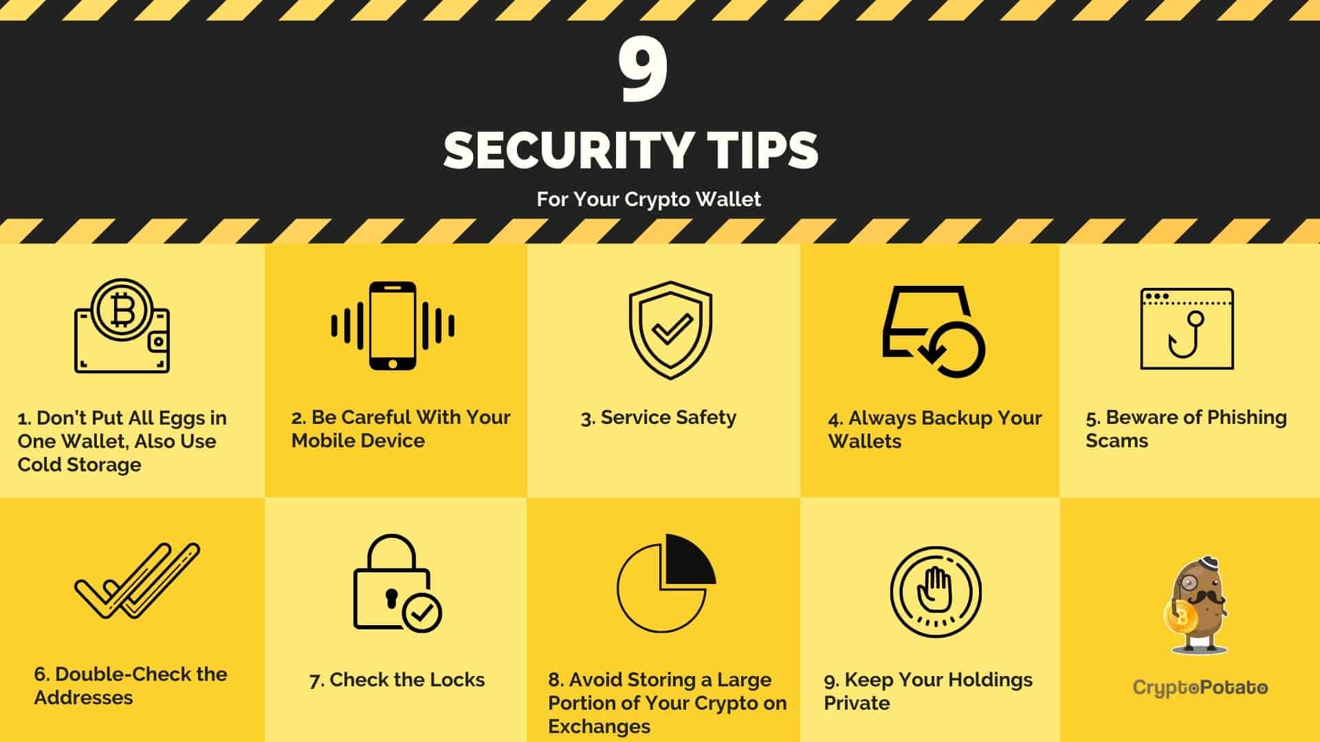 9 tips to secure your crypto wallet